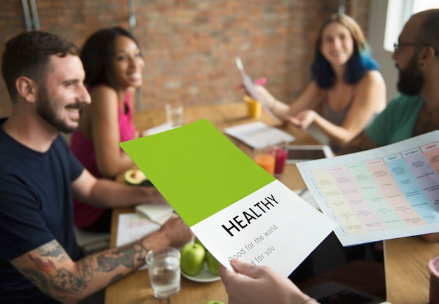 Gezond eten voedsel lifestyle biologische wellness grafisch