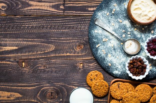 Gezond ochtendontbijt met graankoekjes