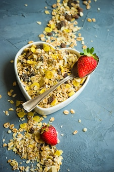 Gezond ontbijt concept