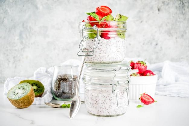 Gezond ontbijt met chiazaden