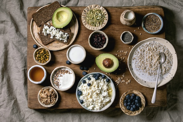 Gezond ontbijt verscheidenheid