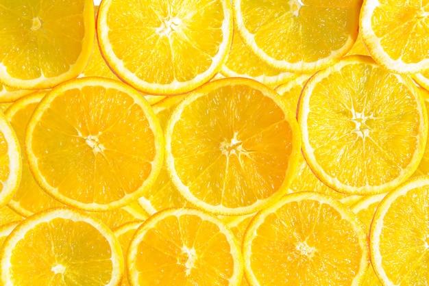 Gezond voedsel, achtergrond. oranje fruit