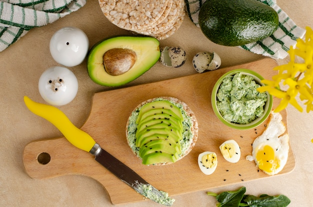 Gezond voedsel en ketogenic dieetconcept.