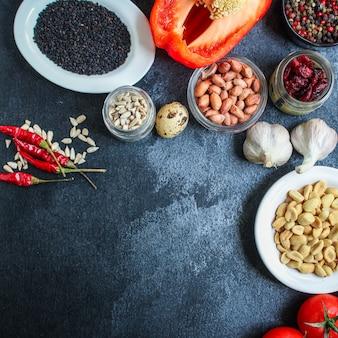 Gezond voedsel ingrediënt product set