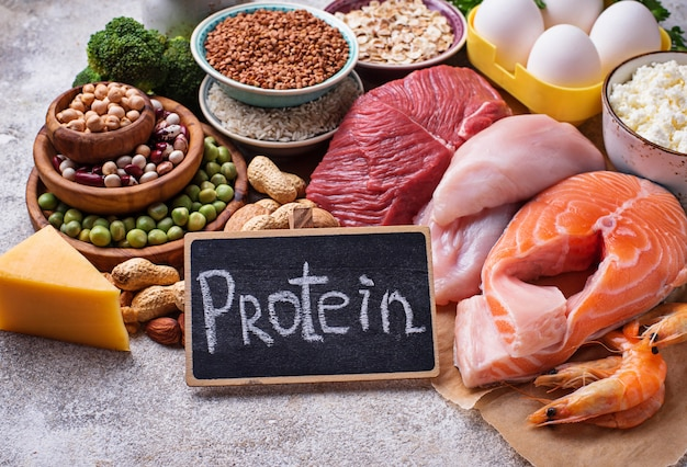 Gezond voedsel rijk aan eiwitten