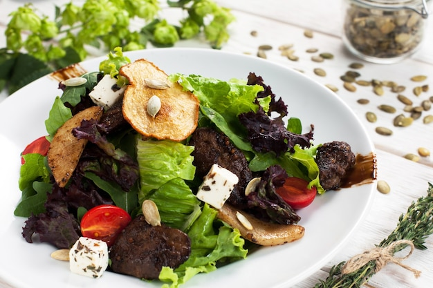 Gezond voedsel snack restaurant vegetarisch menu gastronomisch concept