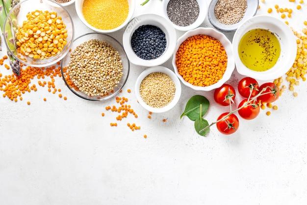 Gezond voedselconcept met gezonde ingrediënten