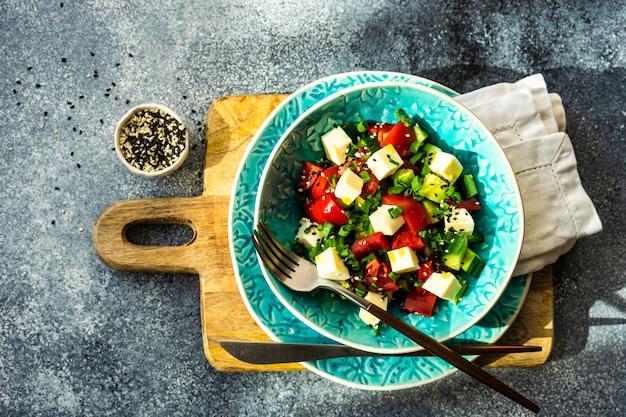 Gezond voedselconcept met organische groenten