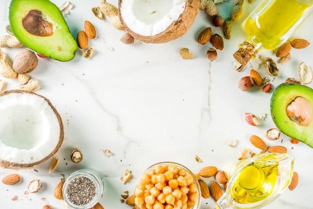 Gezonde bronnen van veganistisch vetvoer