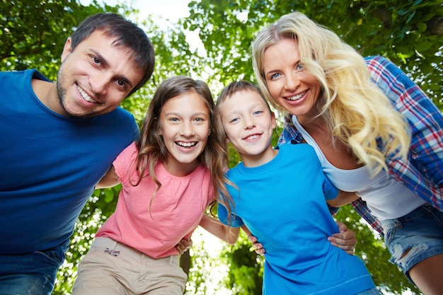 Gezonde familie lachen