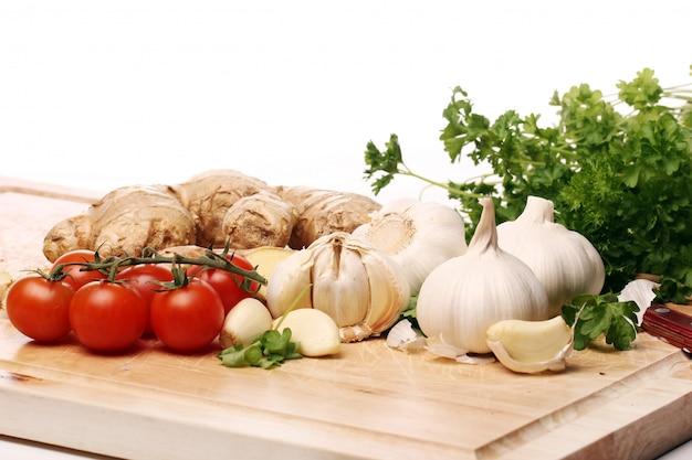 Gezonde groenten op tafel