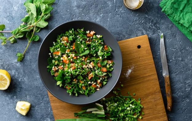 Gezonde ingrediënten voor salade