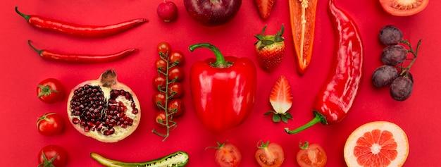 Gezonde levensstijl door groenten en fruit te eten