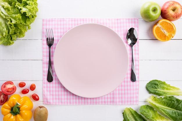Gezonde levensstijl, eten en sport concept