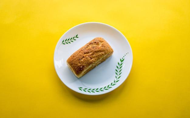 Gezonde luch bakkerij item plak cake in kathmandu, nepal.