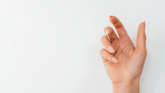 Gezonde mooie manicure plat leggen