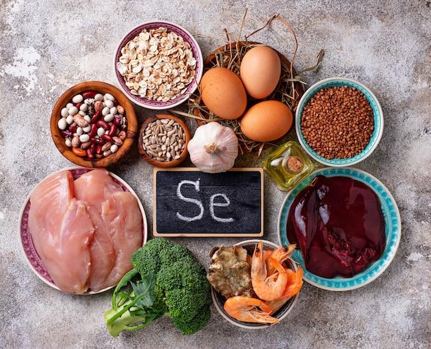 Gezonde productbronnen van selenium.