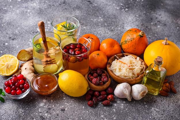 Gezonde producten voor immuniteitsverhoging