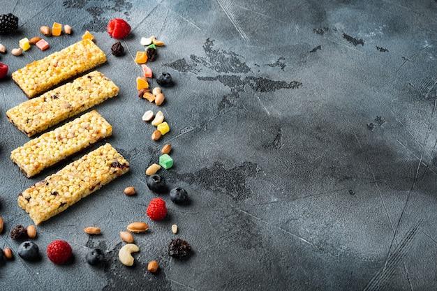 Gezonde snacks, fitness levensstijl en vezelrijk dieet
