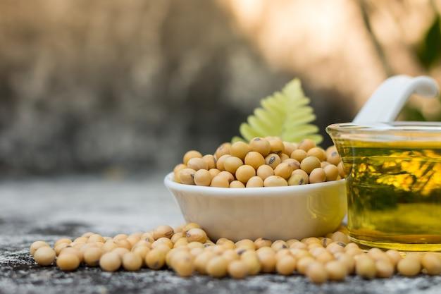 Gezonde sojabonen bevatten veel eiwitten en vitamines.