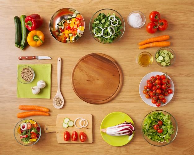 Gezonde vegetarische zelfgemaakte gerechten