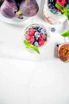 Gezonde vijgen en chia dessert