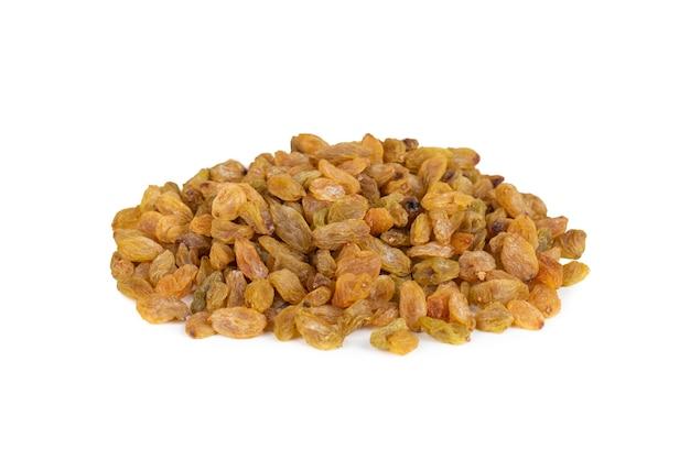 Gezonde zoete gouden rozijnen of gedroogde druiven