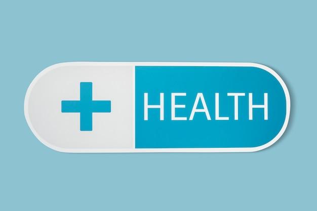 Gezondheid en geneeskunde medische icoon