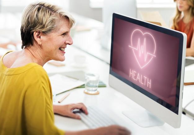 Gezondheid hartslag pictogram symbool concept