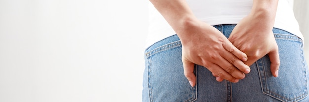 Gezondheidsproblemen, mannen met ernstige aambeien