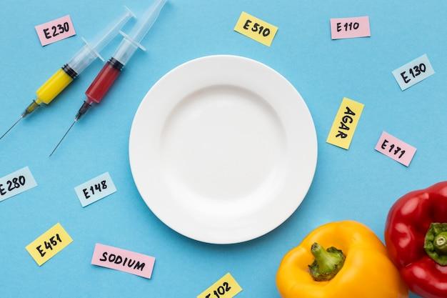 Ggo-gemodificeerd voedsel geïnjecteerd in laboratorium