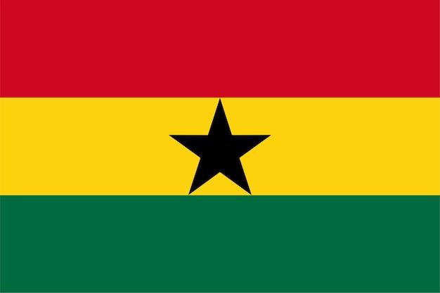 Ghanese vlag van ghana
