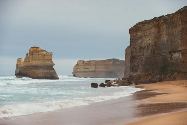 Gibson stap in port campbell aan de great ocean road, victoria, australië.