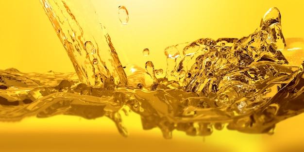 Gieten olie auto