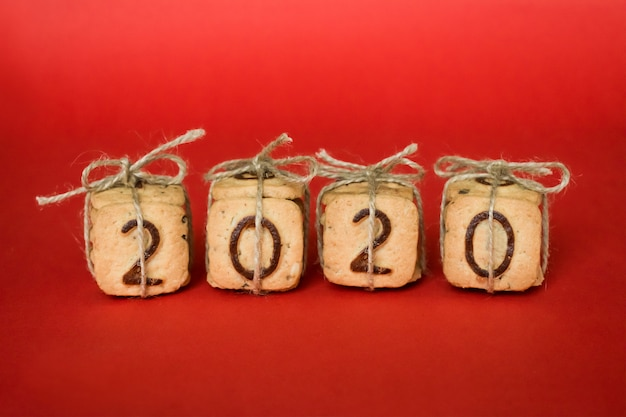 Gift feestelijke kerst cijfers 2020