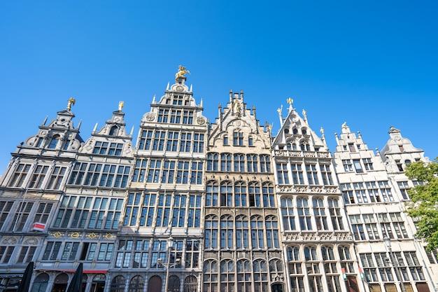 Gildehuizen van antwerpen de beroemde plaats in antwerpen, belgië