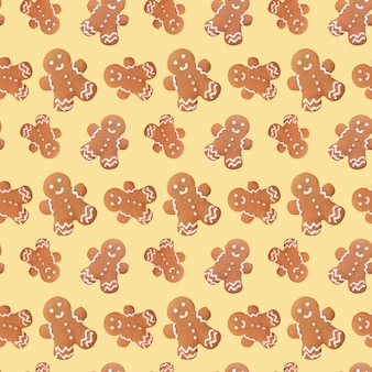 Gingerbread man kerstmis naadloze patroon