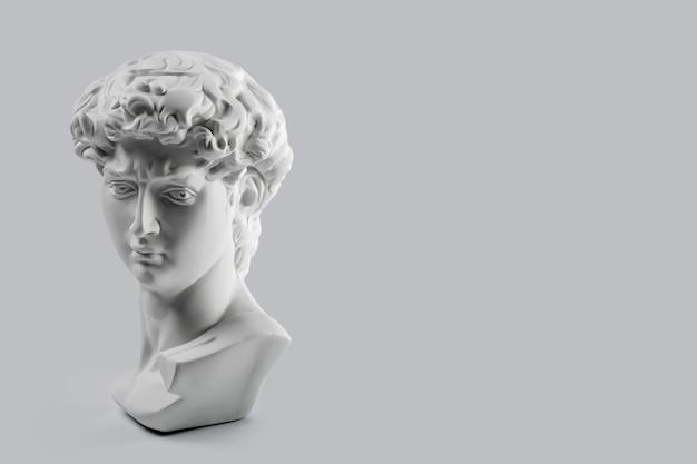 Gipsbeeld van het hoofd van david