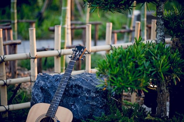 Gitaarinstrument van professionele gitaristen muziekinstrumentconcept voor vermaak