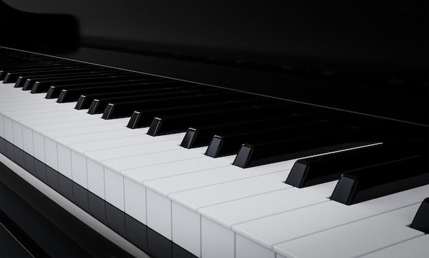 Gitzwart glanzende piano klaviertuts