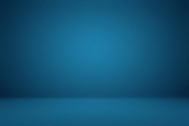 Glad donkerblauw met zwarte vignet studio goed gebruikt als achtergrond, bedrijfsrapport, digitaal, website sjabloon.