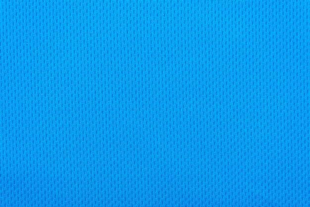 Glad oppervlak van een blauwe polyester sport achtergrond of textuur