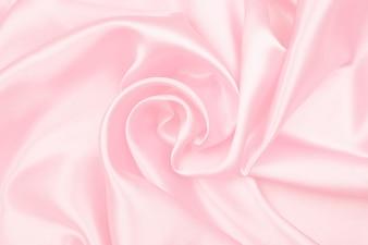 Gladde elegante roze zijde