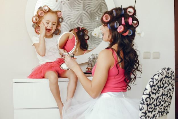 Glamour moeder met dochter
