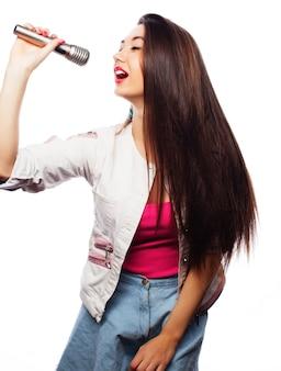 Glamour zanger meisje