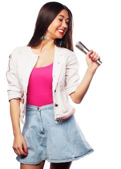 Glamour zangeres meisje