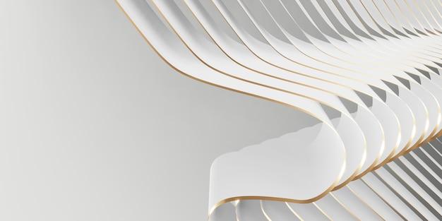 Glanzend lintoppervlak fladderende achtergrond voor decoratie 3d-afbeelding