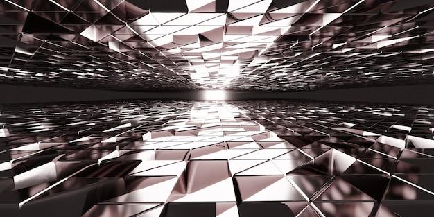 Glanzende achtergrond reflecterend modern concept elegante 3d illustratie