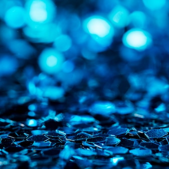 Glanzende blauwe glitter