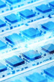 Glanzende computeronderdelen